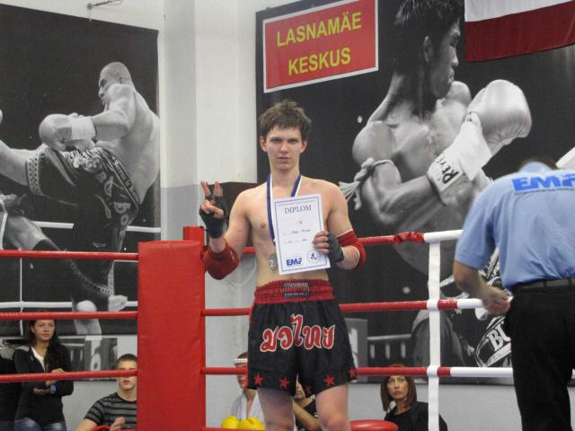 Mark Muhin, teine koht EST MUAY THAI OPEN 2011